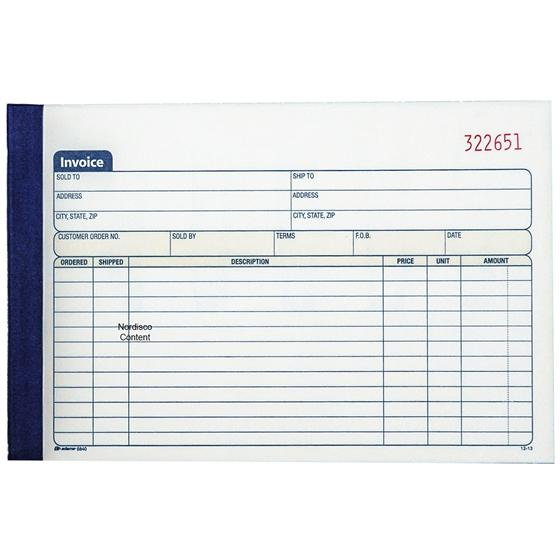 adams 5840 dc5840 invoice book 2 part carbonless 50 sets With adams invoice dc5840
