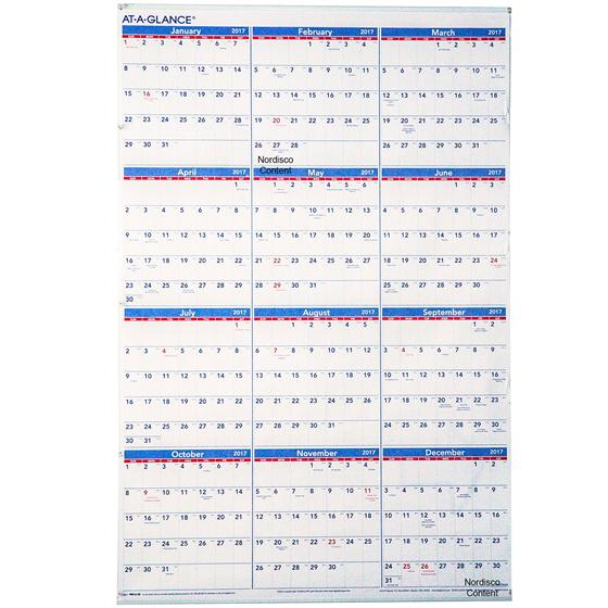 At-A-Glance PM12-28 2017 Yearly Wall Calendar, 24 x 36"
