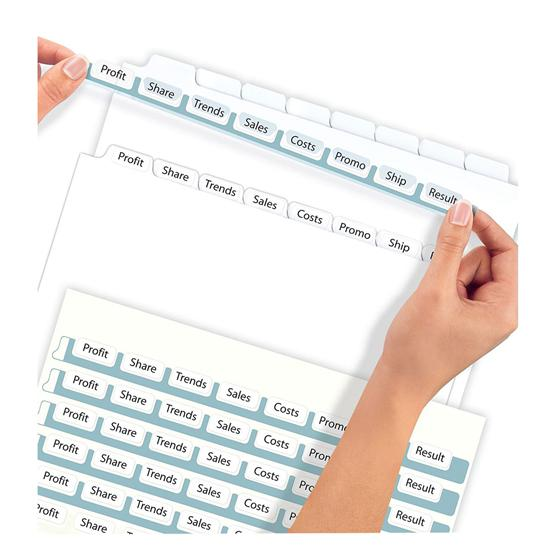 Avery 11447 clear label index maker dividers white 8 tab for Avery template 11447