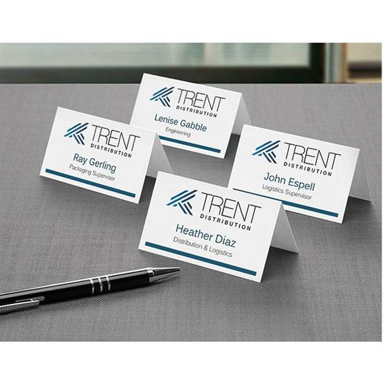 avery 5302 small tent cards 2 x 3 1 2 white box of 160 nordisco