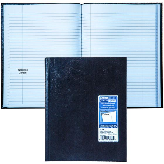 blueline a7 blk executive journal notebook  9 4 x 7 4
