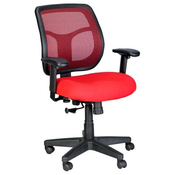 eurotech apollo mt9400 ergonomic office chair red