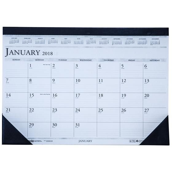 Hod1506 House Of Doolittle 2018 Desk Pad Calendar 13 X 18