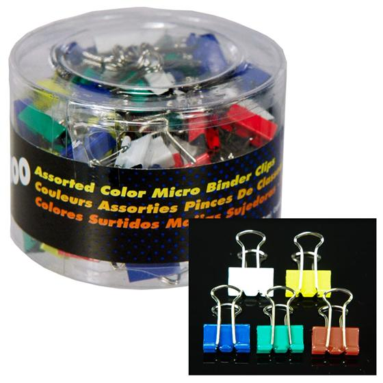 Oic 31023 Assorted Color Micro Binder Clips Nordisco Com