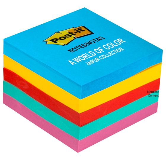 Post-it Notes 654-5UC, Jaipur Collection, 3x3\u0026quot;, Pack of 5 Pads ...