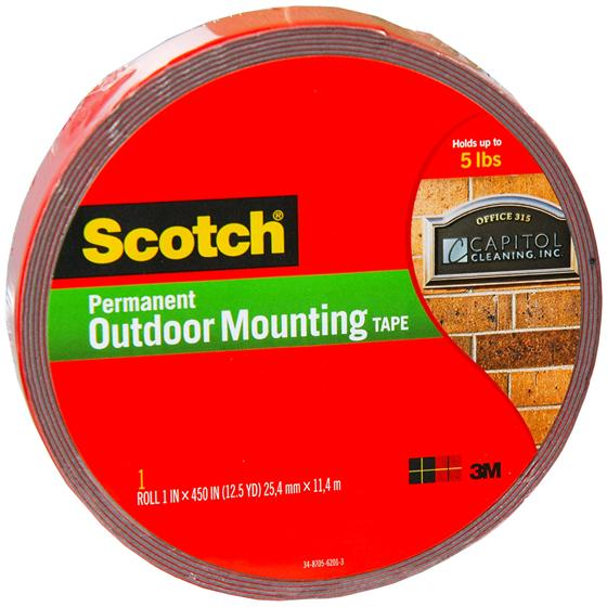 Scotch 4011 Long Permanent Outdoor Mounting Tape