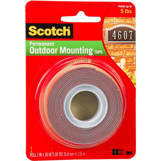 Scotch 4011 Permanent Outdoor Mounting Tape 1 X 60