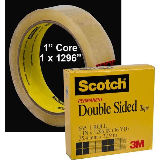 3m scotch 665 permanent double sided tape 1 x 1296. Black Bedroom Furniture Sets. Home Design Ideas