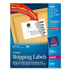 Avery 5168 5 x 3 1 2 white shipping labels for Avery 5168 label template