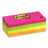 "Post-it Notes 1-1/2 x 2"", Five Neon Colors, 12/Pack"