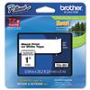 "Brother TZe-251 P-Touch Labeling Tape, 1"", Black Print on White Tape"