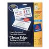 Avery Clean Edge Inkjet Business Card