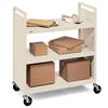 Bretford Basics Flat Shelf Mobile Utility Book Truck