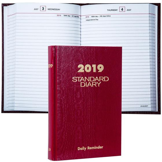 2019 At A Glance Standard Diary Sd389 Daily Reminder 5 75