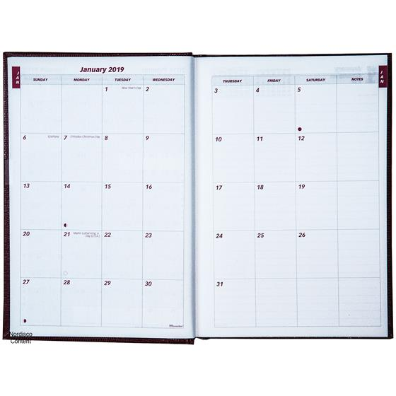 2019 brownline cb389 red daily planner diary hard cover nordisco com