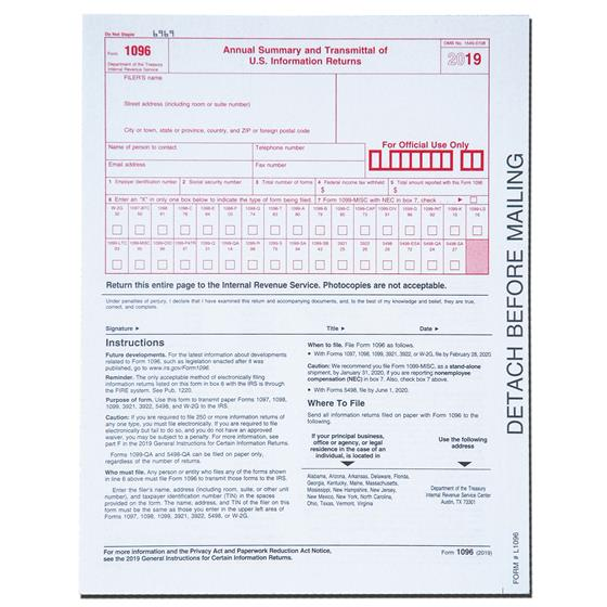 2019 Tops 22905KIT 1099 MISC Tax Forms & Envelopes Plus