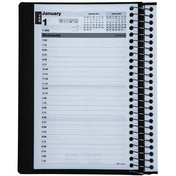 2020 brownline c2504 81t daily planner appointment book  8