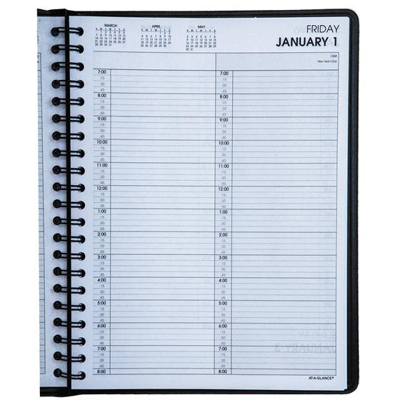 2021 At-A-Glance 70-222 2-Person Daily Appointment Book, 8 ...