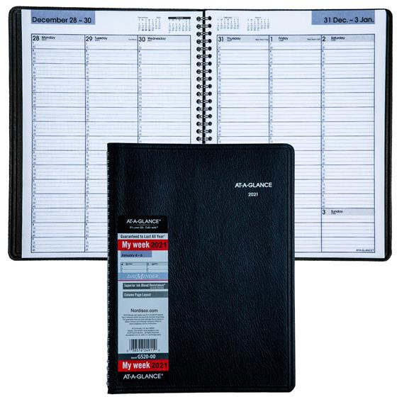 2021-at-a-glance-dayminder-g520-00-weekly-appointment-book-8-x-11-black-cover