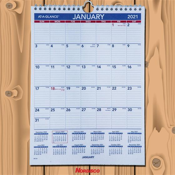 2021 At-A-Glance PM1-28 Monthly Wall Calendar, 8 x 11 ...