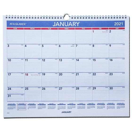 2021 At-A-Glance PM8-28 Monthly Wall Calendar, 14-7/8 x 11 ...