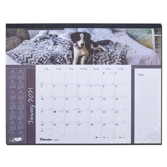 2021 Blueline C194116 Mans Best Friend Dog Desk Pad ...