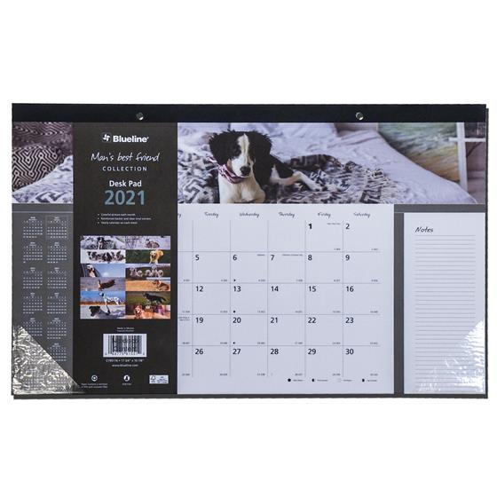 2021 Blueline C195116 Mans Best Friend, Dog Desk Pad ...