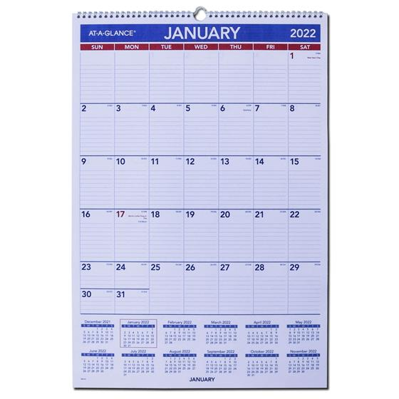 At A Glance Wall Calendar 2022.2022 At A Glance Pm4 28 Monthly Wall Calendar 20 X 30 Nordisco Com