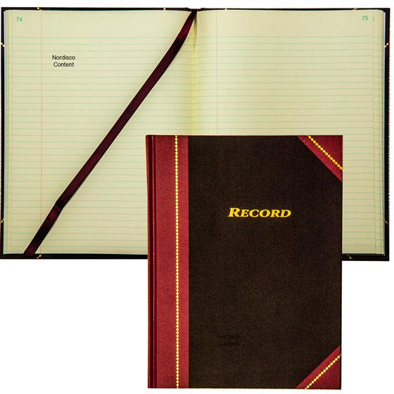 500 Pages Adams Record Book 11-5//8 X 7-1//4