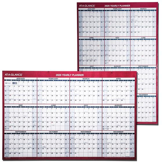 At A Glance Calendar.At A Glance 2020 Yearly Planner Pm26 28 Dry Erase Wall Calendar
