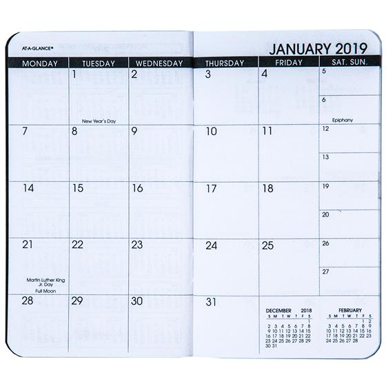 at a glance 70 024 05 2019 2020 two year monthly planner 3 1 2 x
