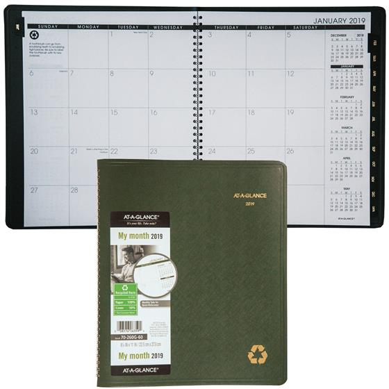 at-a-glance-70-260G-2019-monthly-planner-878-x-11-green-cover