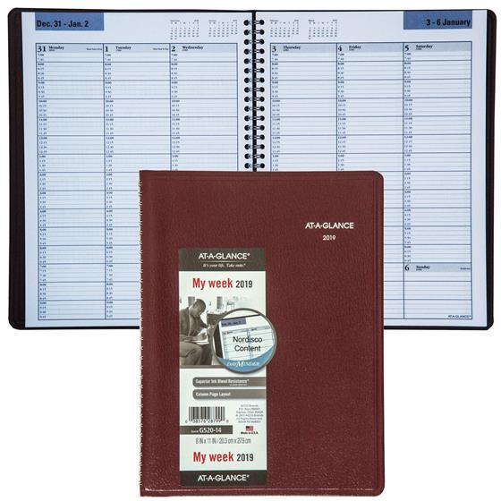 at-a-glance-dayminder-g520-14-weekly-appointment-book-8-x-11-burgundy-cover