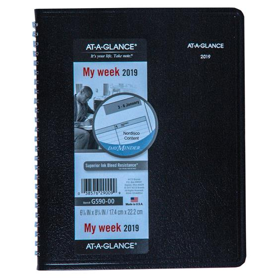 at a glance dayminder g590 00 2019 weekly planner with no
