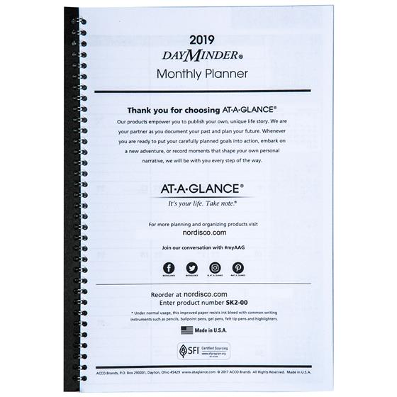 at a glance action planner