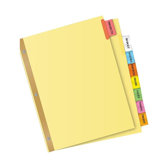 Avery 11111 Big Tab Insertable Dividers 8 12 X 11 8 Tab