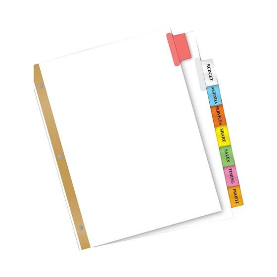 avery 11123 big tab insertable dividers 8 1 2 x 11 8 tab