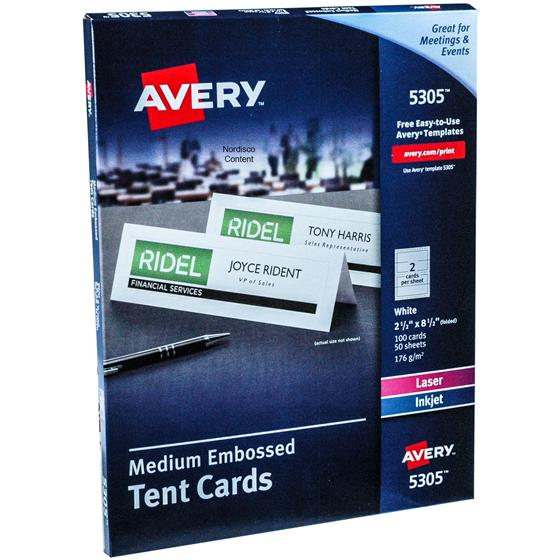 avery-5305-medium-embossed-tent-cards-2-12-x-8-12-white-box-of-100