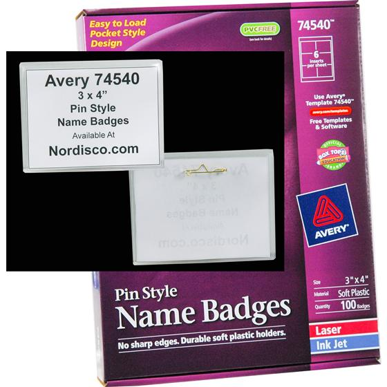 avery 74540 pin style names badges 3 x 4 nordisco com