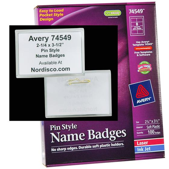 Pin Style Name Badges - Avery 3x4 name badge template