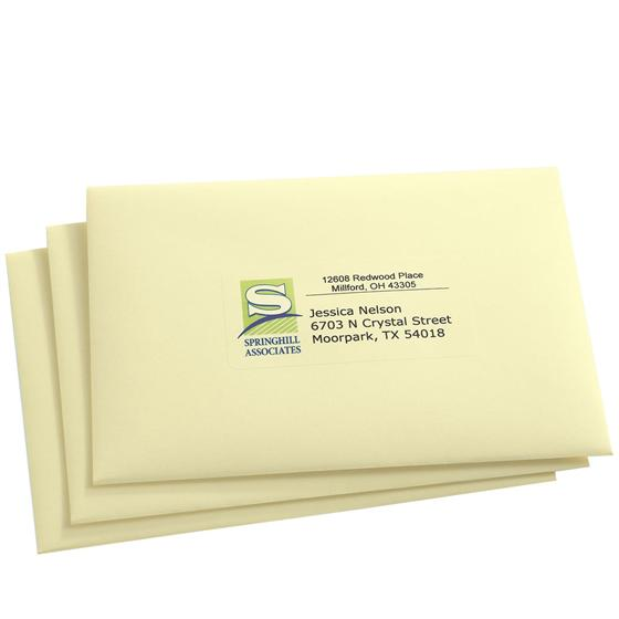 Avery 8663 Clear Easy Peel Shipping Labels 2 X 4 Inkjet Pack Of