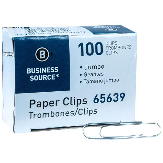 business-source-65639-jumbo-paper-clips-.041-gauge-smooth-box-of-100