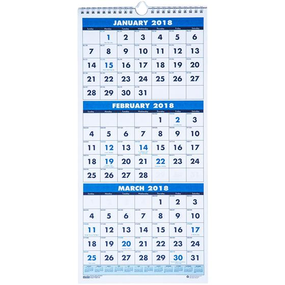 Hod House Of Doolittle  Month Wall Calendar Fits Cubicles