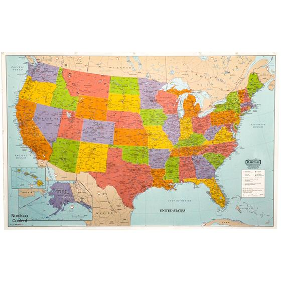 HOD House Of Doolittle Laminated United States Map X - Large laminated us map