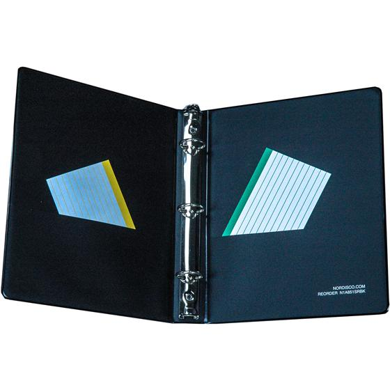 "N1A851SRBK Mini 3 Ring Binder For 5.5 X 8.5"" Paper, 1"