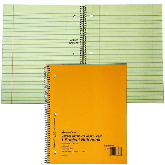 national brand 33 068 1 subject notebook 11 x 8 7 8 80 sheets