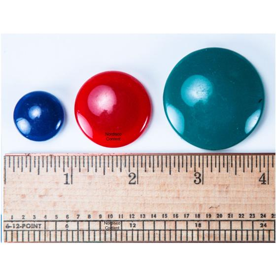 Officemate OIC 92500 Round Magnets, Assorted Sizes