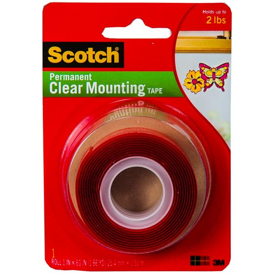 3m Scotch 4010 Permanent Clear Mounting Tape 1 Quot X 60