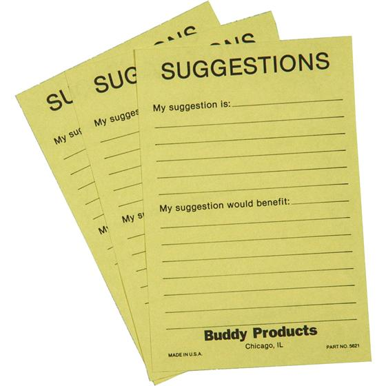 suggestion box cards 4 x 6 buddy 5621. Black Bedroom Furniture Sets. Home Design Ideas