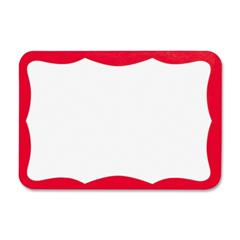 Name Tags Red Border Business Source 26465 | Nordisco com